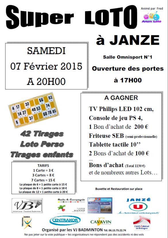 Loto le 7 février 2015 à Janzé